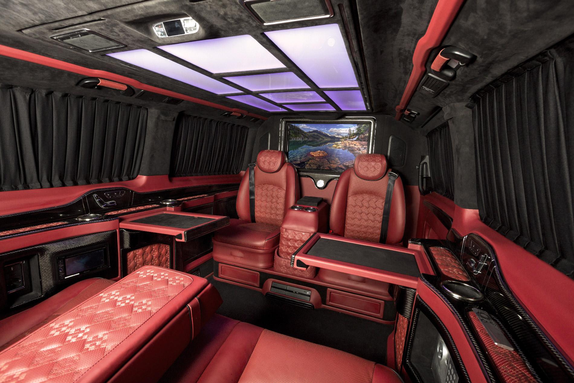 mercedes benz v class red l rovelver vip auto design. Black Bedroom Furniture Sets. Home Design Ideas